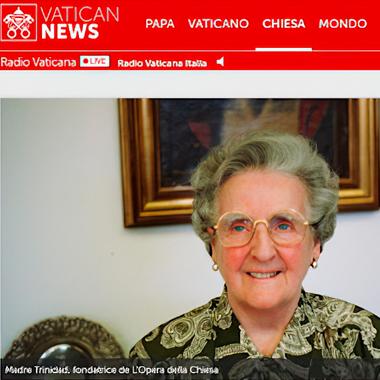 """""""L'amore profondo di Madre Trinidad per la Chiesa"""": articolo pubblicato su Vatican.news"""